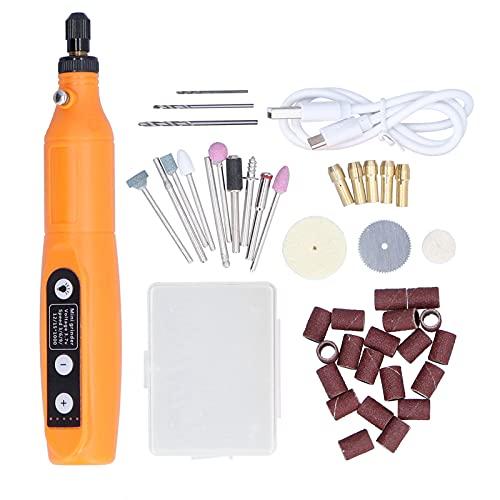 Mini Kit de amoladora eléctrica Eujgoov Pluma de molienda eléctrica Herramienta de grabado recargable con muelas abrasivas para pulir y esmerilar