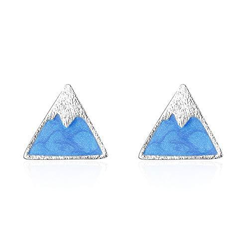 GMZOO Damen Ohrringe Dripping Oil Snow Mountain Ohrringe für Frauen Wandern Outdoor Berg Ohrstecker Schmuck