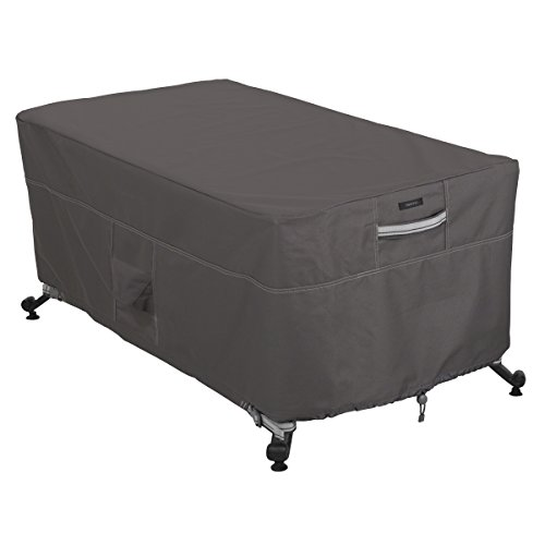 Classic Accessories Ravenna Water-Resistant 56 Inch Rectangular Fire Pit Table Cover