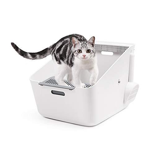Hancoc El Olor De La Inducción del Tocador del Gato En La Parte Superior Cuadro Semicerrado Basura Anti-desodorantes Alimentos For Mascotas Fuera De La Tolva 37 * 50 * 35cm