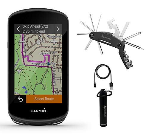 Garmin Edge 1030 Plus, GPS Cycling/Bike Computer, On-Device Workout Suggestions, ClimbPro Pacing Guidance with Included Wearable4U Power Bank and Multitool Bundle