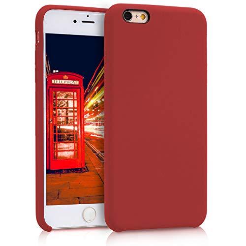 kwmobile Cover Compatibile con Apple iPhone 6 Plus / 6S Plus - Custodia in Silicone TPU - Back Case Protezione Cellulare Rosso Scuro