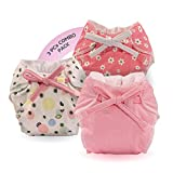 Bumberry Baby Smart Nappy Waterproof Reusable & Adjustable Cloth Diaper for newborn (0 to 6 months, Baby pink, Fruityline, Lilies)