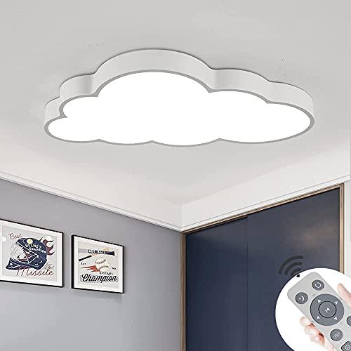 Luz De techo LED Regulable De 64W Luz Creativa Para Sala De Estar Con Forma De Nube Brillo Y Color De Luz Ajustables Luz Romántica Para Dormitorio Con Control Remoto [White-64W]