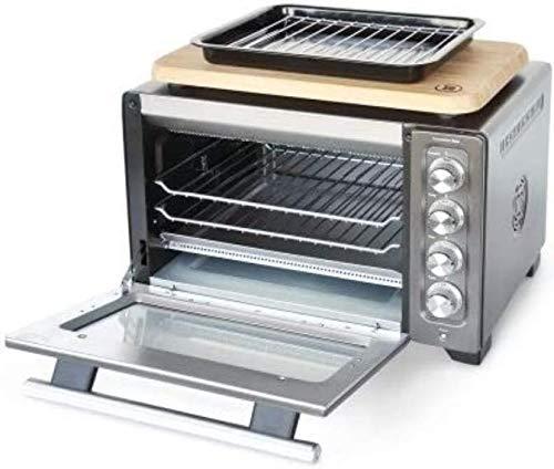 KitchenAid RKCO263SZ Convection Countertop Toaster Oven, Reversible Racks, Cutting Board, Slate (RENEWED)