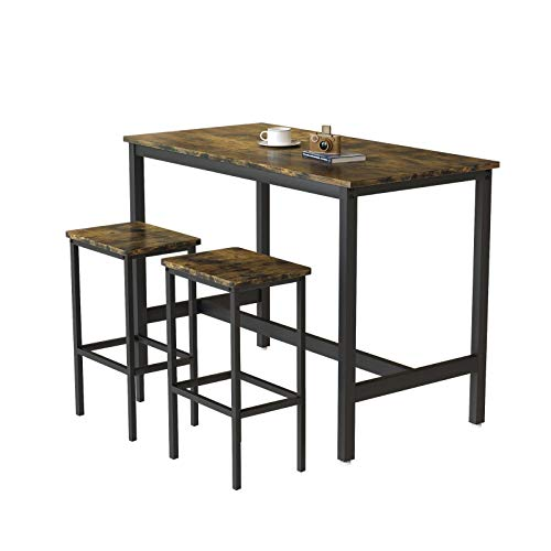 Juego de mesa de comedor con muebles de comedor, color marrón