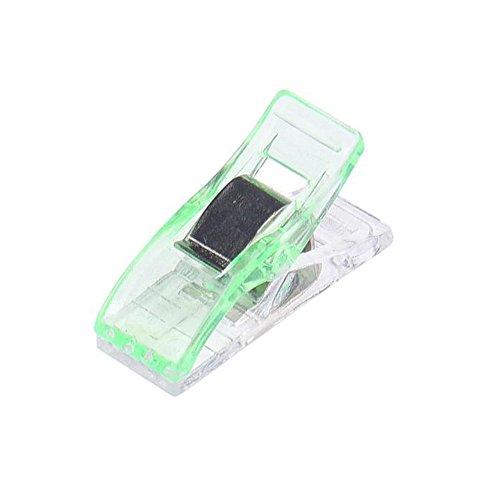 KEYI 20 Paquet de Pinces Clips Plastique Reliure Courtepointe D'artisanat Transparents en Plastique Fixation Bord Hache Organisateurs Maison et Jardin