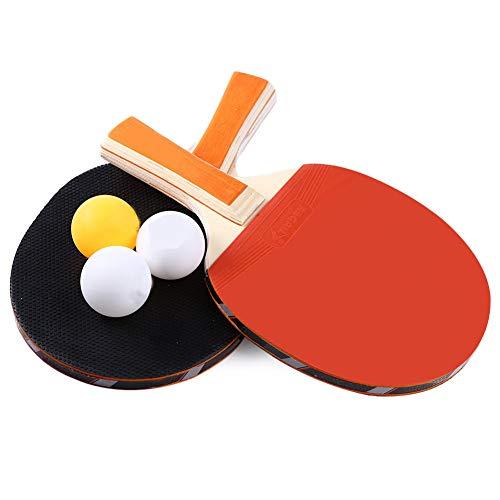 RainbowBeauty Xiton Anti Slip Stiel Tischtennisschläger-Set, Tischtennis-Set, Durable Pingpong-schläger, Tragbare Schläger Und Ball-Set, Durable Ping-Pong Paddel Set