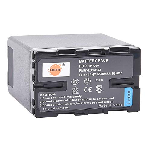 DSTE® Full Coded BP-U60 BPU60 Li-Ion Batería Compatible para Sony PMW-100 PMW-F3...