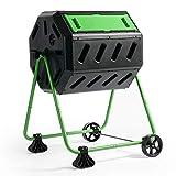 HOT FROG Mobile Dual Chamber Tumbling Composter