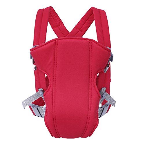 Babytrage Rucksack Neugeborene Wickel Sling Seat Säugling Atmungsaktive Vordere Rücken Tragegeschenk für Neue Mutter und Nerborn(rot)