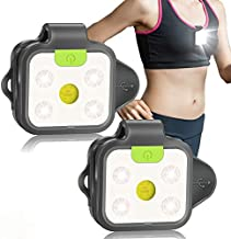 Running Light, 2Pack Reflective Safety Light for Runners, USB Rechargeable LED Light, Clip On Running Lights with Runners and Joggers for Camping, Hiking, Running, Jogging, Outdoor Adventure
