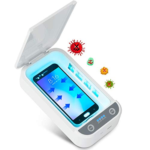 Kintty UV Handy Sterilisator,UV-Desinfektionsbox,Tragbares Automatische Smartphone-UV-Desinfektionsgerät Mit Aromatherapie für Mobiltelefone,Kosmetika,Uhren