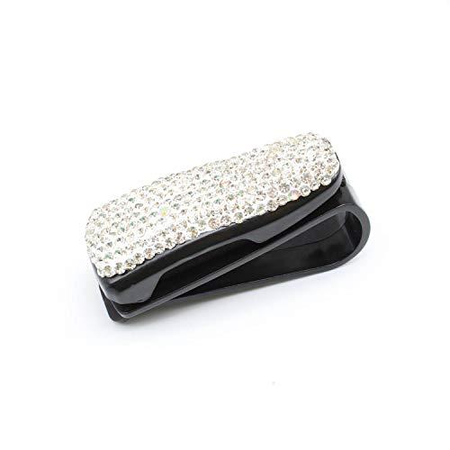 LERANXIN 2 Piezas de Soport Gafas Coche, Pinza Duradera para la Visera del Coche, con Clip para Tarjeta de Billete, Estuche de Gafas de Negro Que se Puede Utilizar para Parasoles de Automóviles
