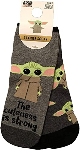 Primark Limited Star Wars The Mandalorian Baby Yoda Pack 3 Calcetines de GROGU, EU 37-42, UK 4-8