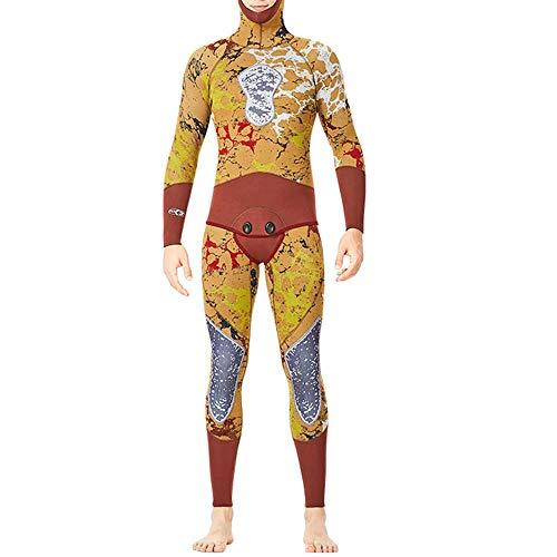 ZzheHou Traje De Neopreno para Hombre Traje de Buceo con Capucha de 2 Piezas para Hombre Trajes de Neopreno de Primera Calidad de 3 mm para Surf, Snorkel (Size : M)
