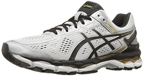 ASICS Men's Gel Kayano 22 Running Shoe, Onyx/Silver/Charcoal, 8 M US