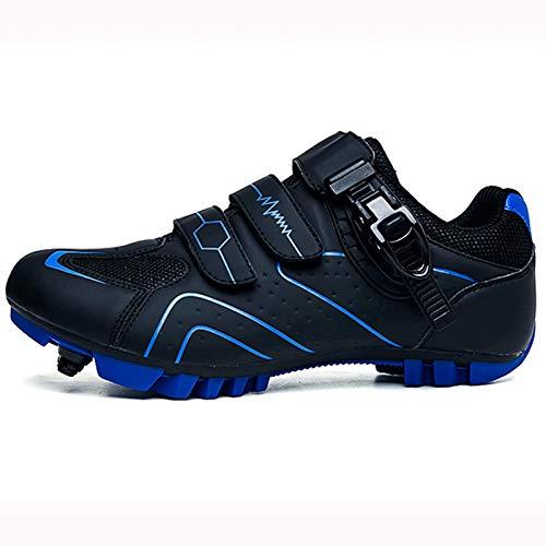 Zapatillas de ciclismo para hombres y mujeres - Calzado transpirable y calzado de bicicleta de montaña resistente al desgaste con tacos SPD Botones giratorios Calzado de bicicleta de montaña adecuado