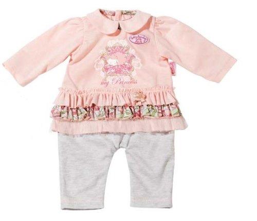 Zapf Creation 793220 - Baby Annabell Kleidchen auf Bügel, rosa Longshirt und graue Hose