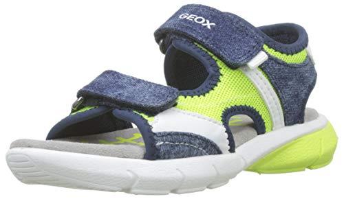 Geox B Sandal Flexyper Boy C, Sandalias para Bebés, Fluor Yellow/Navy C2hf4, 23 EU