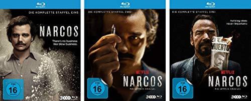 Narcos - Die komplette Staffel 1+2+3 im Set - Deutsche Originalware [9 Blu-rays]