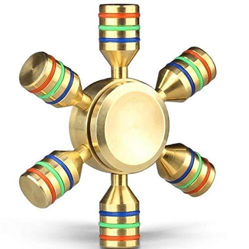 1pc Abnehmbare Hand Spinner 6 Flügel Hilfe Fokus Und Glatt Reduzieren Sie Stress Spins Hand Finger Fidget Spielzeug Gold-