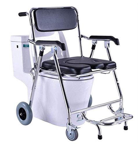 N/Z Daily Equipment Elderly Potty Chair Pulley Adult Mobile Toilet Seat Toilet Seat Chair Bath Chair Patient Pregnant Commode Chairs