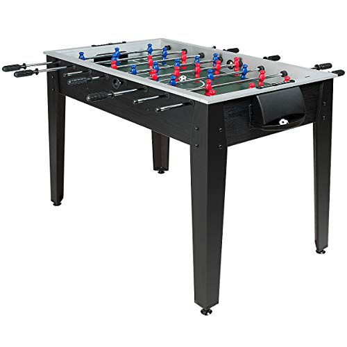 Giantex Foosball Table, Wooden Soccer Table Game w/Footballs, Suit for 4 Players, Competition Size Table Football for Kids, Adults, Football Table for Game Room, Arcades (48 inch, Black)