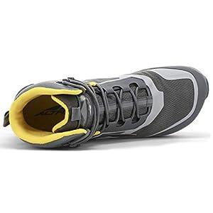 ALTRA Men's AL0A4VQH Lone Peak All-WTHR Mid Trail Running Shoe, Gray/Yellow - 12.5 M US