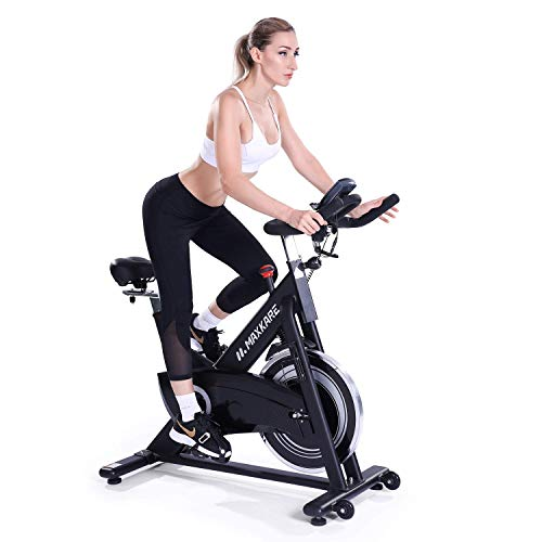 Maxkare Black Stationary Magnetic Spinning Bike