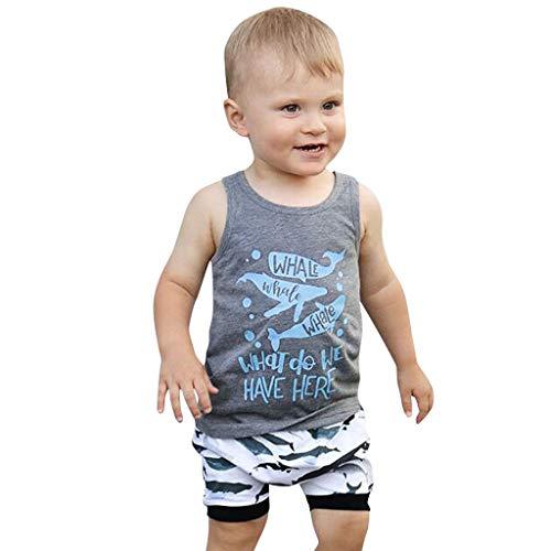 Julhold peuter kind baby jongen eenvoudige brief print vest losse bovenstukken cartoon shorts 2 STUKS outfits 0-4 jaar