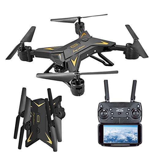 Faltbare WiFi FPV RC Quadrocopter Drohne ,routinfly mit 1080P 5.0MP Kamera Selfie Drohne Spielzeug Geschenk Kinder Erwachsene Anfänger (Schwarz, ONE Size)