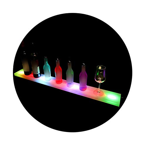 XINGLL Acrílico Vitrina Transparente, Soporte Transparente Con Encimera LED Para Muñecas Coleccionables, Modelos Figuras, Juguetes Cosméticos, Luces Ajustables ( Color : White , Size : 50X11X2.4CM )