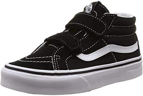Vans Kids Sk8-Mid Reissue V Skate Shoe Black/True White 3
