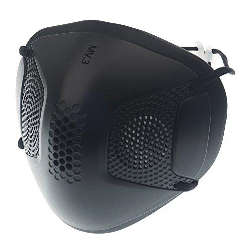 Magic V Line Masker - Vervangbare Sanitaire Maskers met Luchtfilter/Fijne stofbescherming/Wasbaar Sports Black
