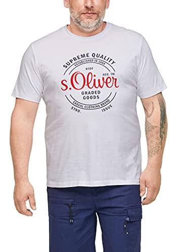 s.Oliver Big Size Herren 131.10.105.12.130.2103662 T-Shirt, White, 4XL