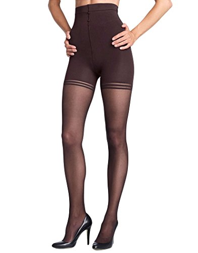 Donna Karan Hosiery Signature Sheer Satin Pantyhose, Tall, Off Black
