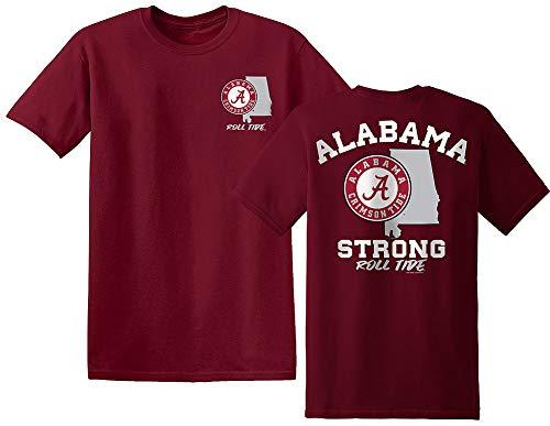 Elite Fan Shop Alabama Crimson Tide Tshirt State Strong - Medium
