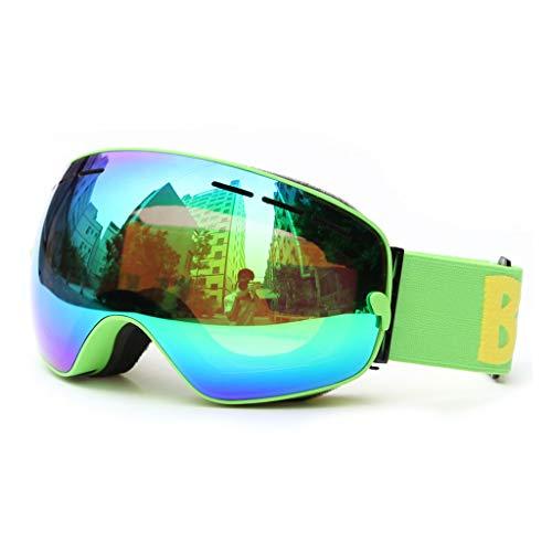 Skibril Anti-mist UV bescherming Sferische Spiegel Lens met Over Bril Skiën Motorfiets Snowboard Mountain Unisex