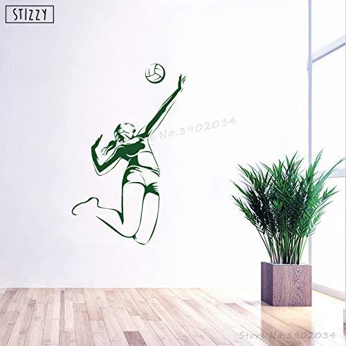 Tianpengyuanshuai Fototapete Coole Volleyballspieler Dekoration Sport Frau Wandaufkleber Mädchen Schlafzimmer Beach Style 63x99cm