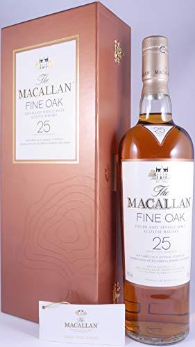 Macallan 25 Years Fine Oak Highland Single Malt Scotch Whisky 43,0% Vol. - eine der wenigen Abfüllungen eines legendären Macallan Single Malt aus dem Jahr 2004