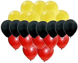 30 pc Mickey Mouse Colors Party Balloon Set - Red, Yellow, Black