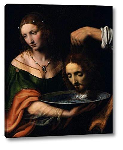 "Salome with The Head of St John The Baptist by Bernardino Luini - 16"" x 20"" Gallery Wrap Canvas Art Print - Ready to Hang"