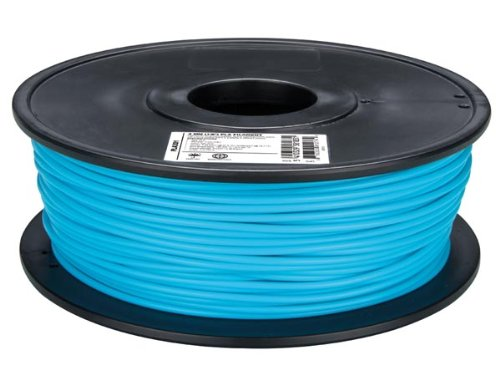 Velleman PLA175D1 PLA Filament for 3D Printers, 1 Grade to 12 Grade, 14172' Length, 1/16' Diameter, Light Blue