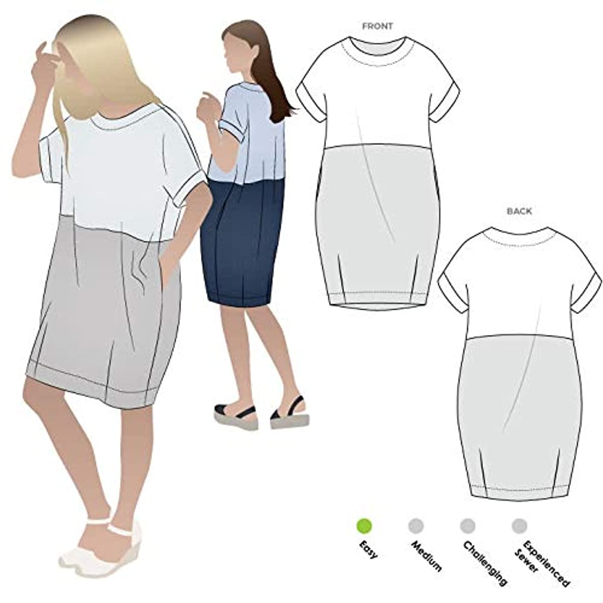 Style Arc Sewing Pattern - EME Dress (Sizes 04-16) - Click for Other Sizes Available xzmnacr601