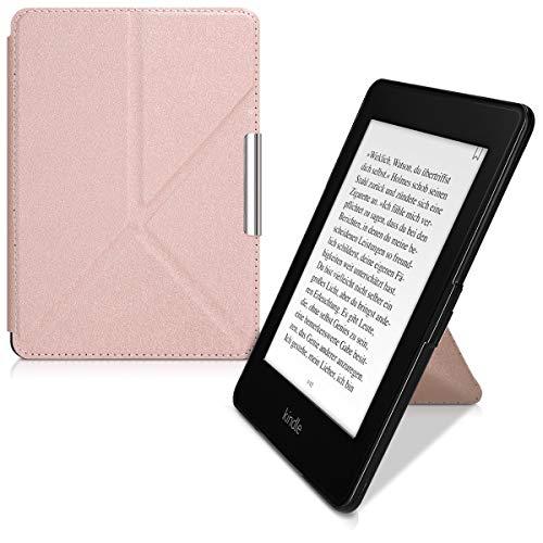 kwmobile Funda Compatible con Amazon Kindle Paperwhite -Estilo Origami -en Oro Rosa (para Modelos hasta el 2017)
