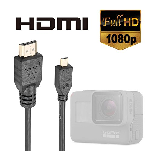 Luxebell High Speed HDMI HD Video Cable for Gopro Hero 5 4 Black Silver 3+ 3 and Sjcam Sj4000 Sj5000-5feet/1.5m (Pack-1)