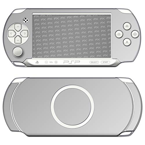 atFoliX Skin compatible con Sony PSP-E1000 / E1004, Sticker Pegatina (FX-Chrome-Soft-Silver), Cromado / Efecto brillo