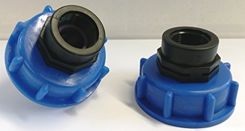 CMTech GmbH Montage Technik 2 x cm133 Bec Adaptateur S60 x 6 gros filetage avec manchon avec filetage interne 3/4 \