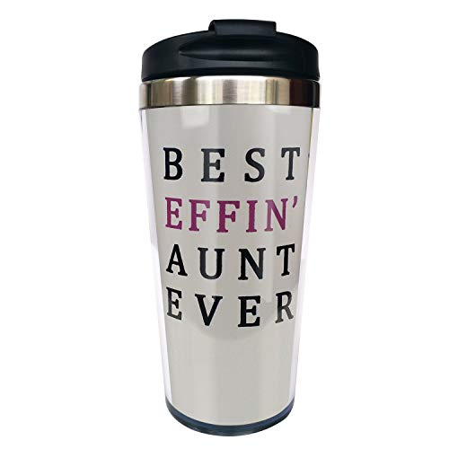 Best Effin Aunt Ever, Funny Coffee Mug For Auntie Travel Mug Tumbler With Lids Thermos Coffee Cup Vacuum Insulated Flask Stainless Steel Hydro Water Bottle 15 Oz